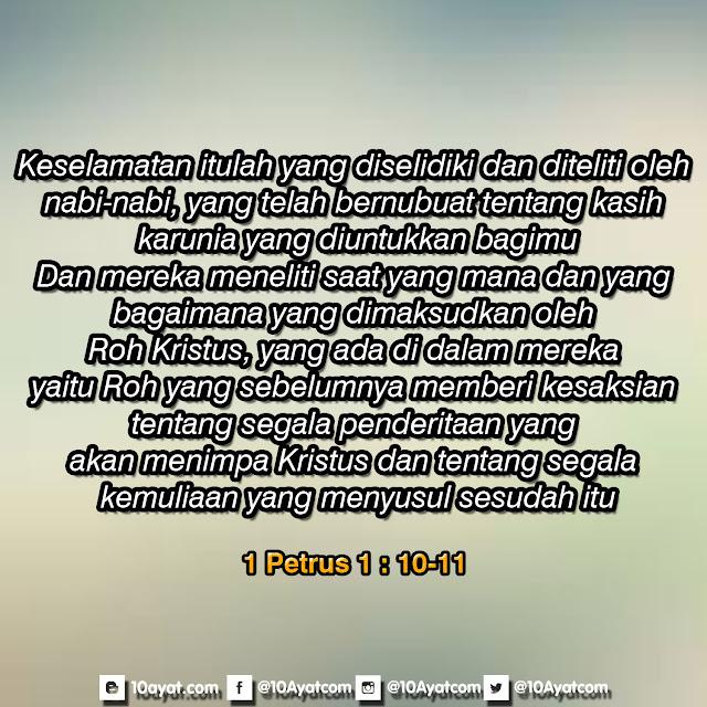 1 Petrus 1: 10-11