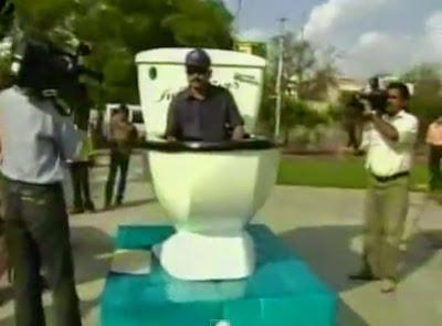 Man Builds Toilet Car