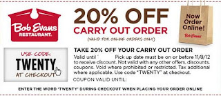 photo relating to Bob Evans Coupons Printable identify Bob evans coupon codes for these days : Ninja cafe nyc discount codes