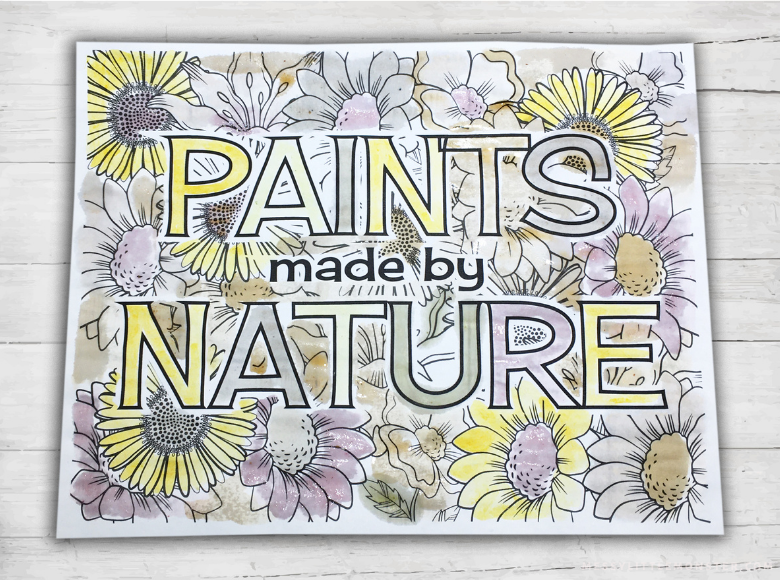 how to make paint from nature