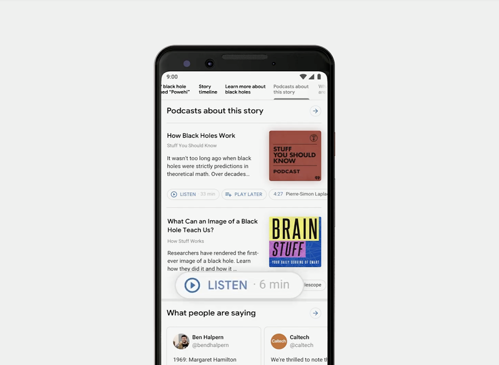 Support for podcast search coming soon in Google