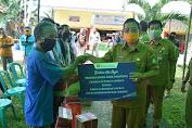 Bantuan Dari Bank Indonesia, Rupinus Serahkan Sembako Kepada 100 Warga Desa Rawak Hilir