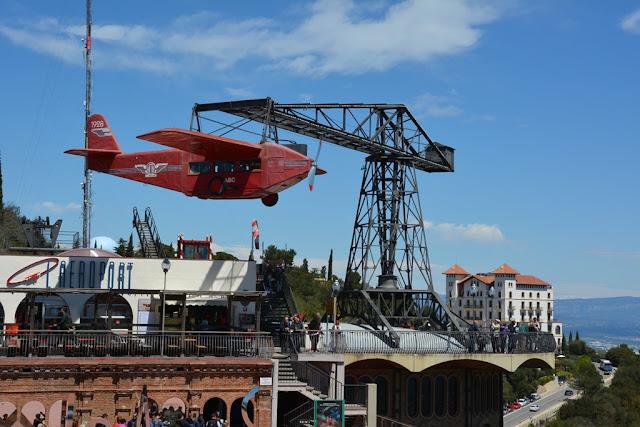 Tibidabo Amusement Park plane