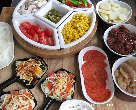 Raclette Party Ingredients