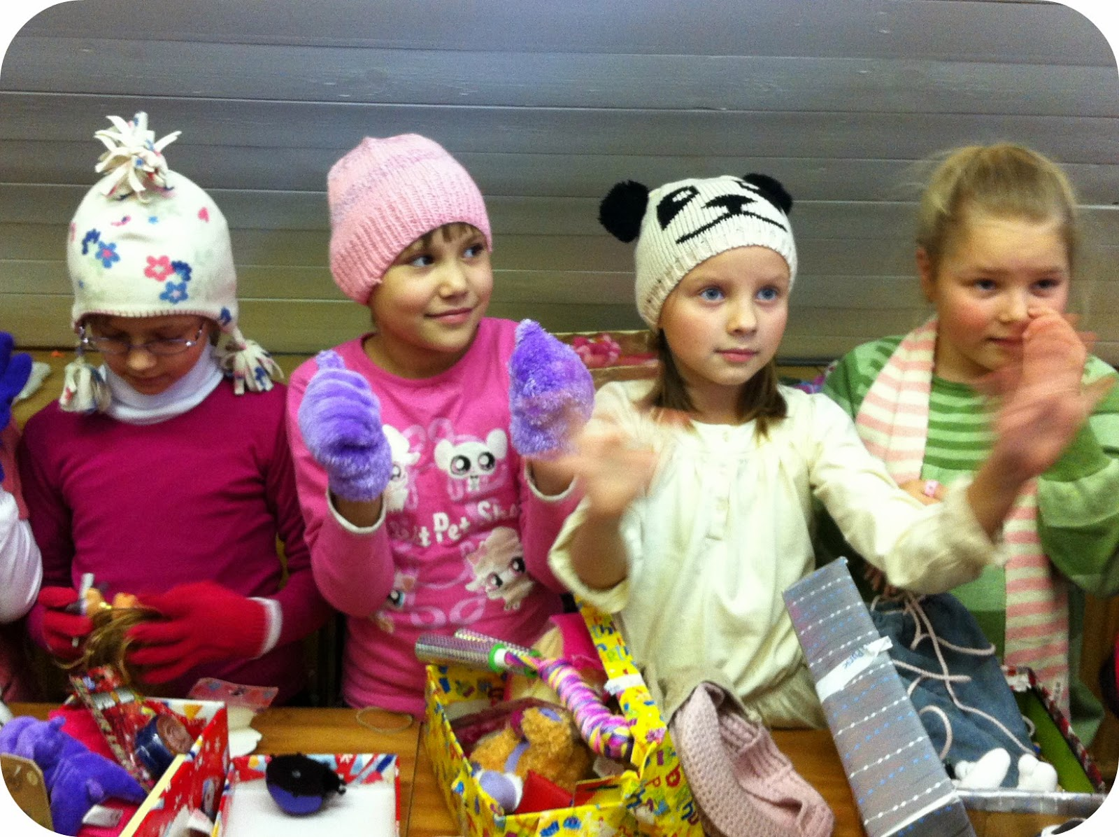 Christmas shoebox recipient children