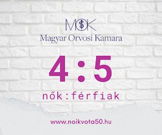 A Magyar Orvosi Kamara vezetői között 4:5 a nők és férfiak aránya #KE51