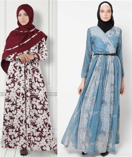 dress muslim batik terbaru 2017/2018