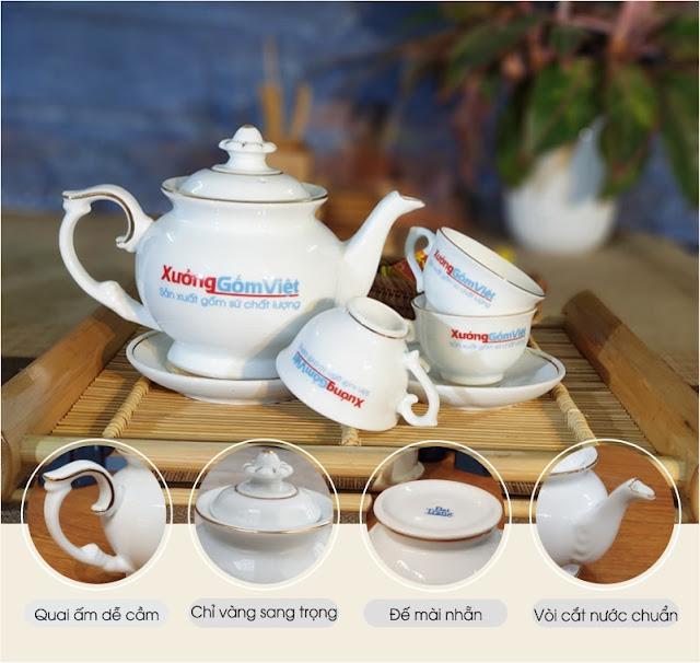 Bộ ấm trà cao cấp Bát Tràn