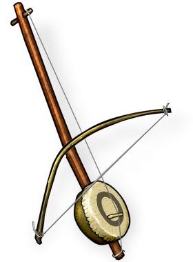 Indian bowed instruments : Kingri or Ektara