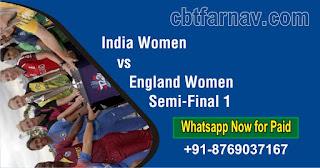 India Women vs England Women ICC Women's T20 World Cup Semi-Final 1 T20 100% Sure
