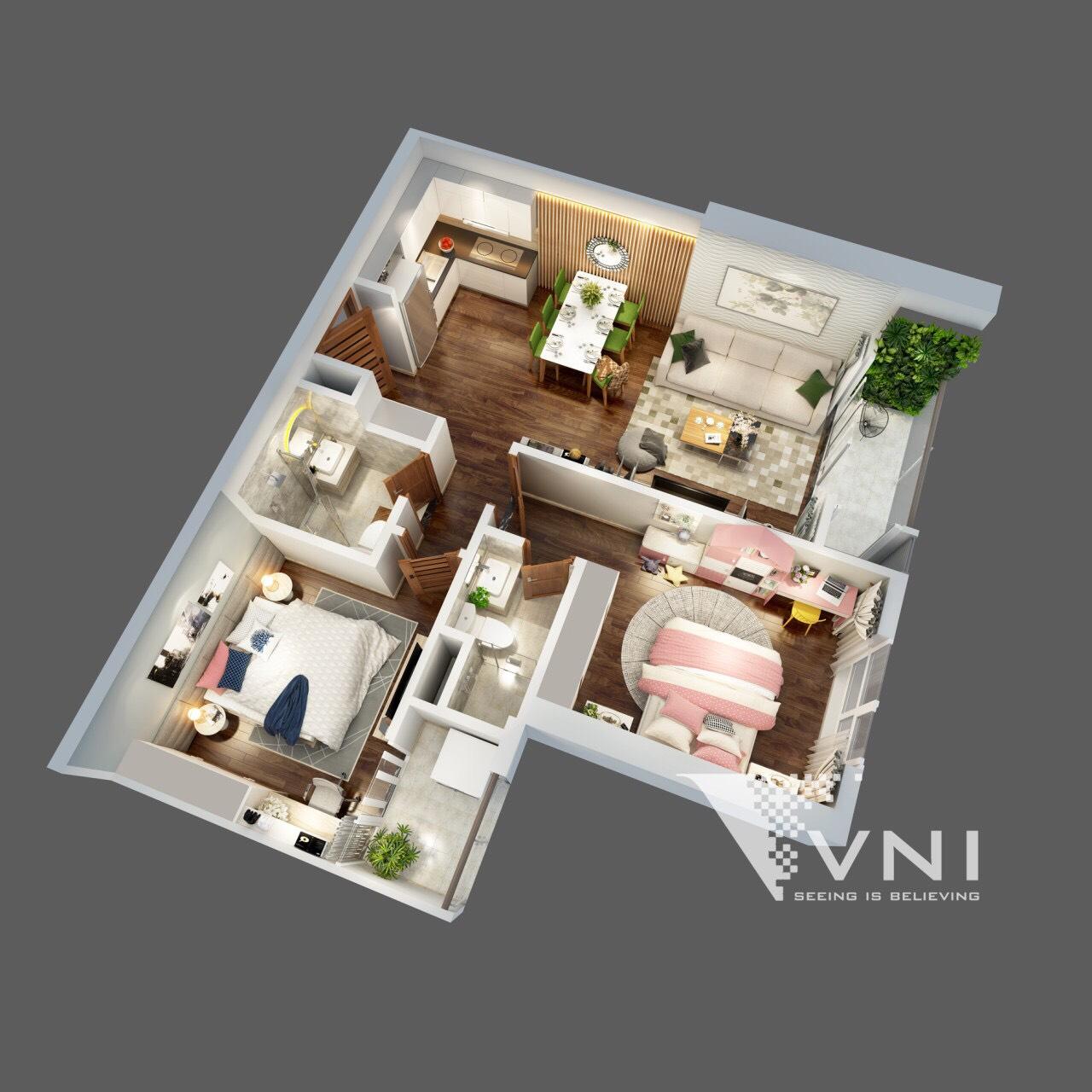 Mẫu thiết kế căn hộ dự án The Terra An Hưng