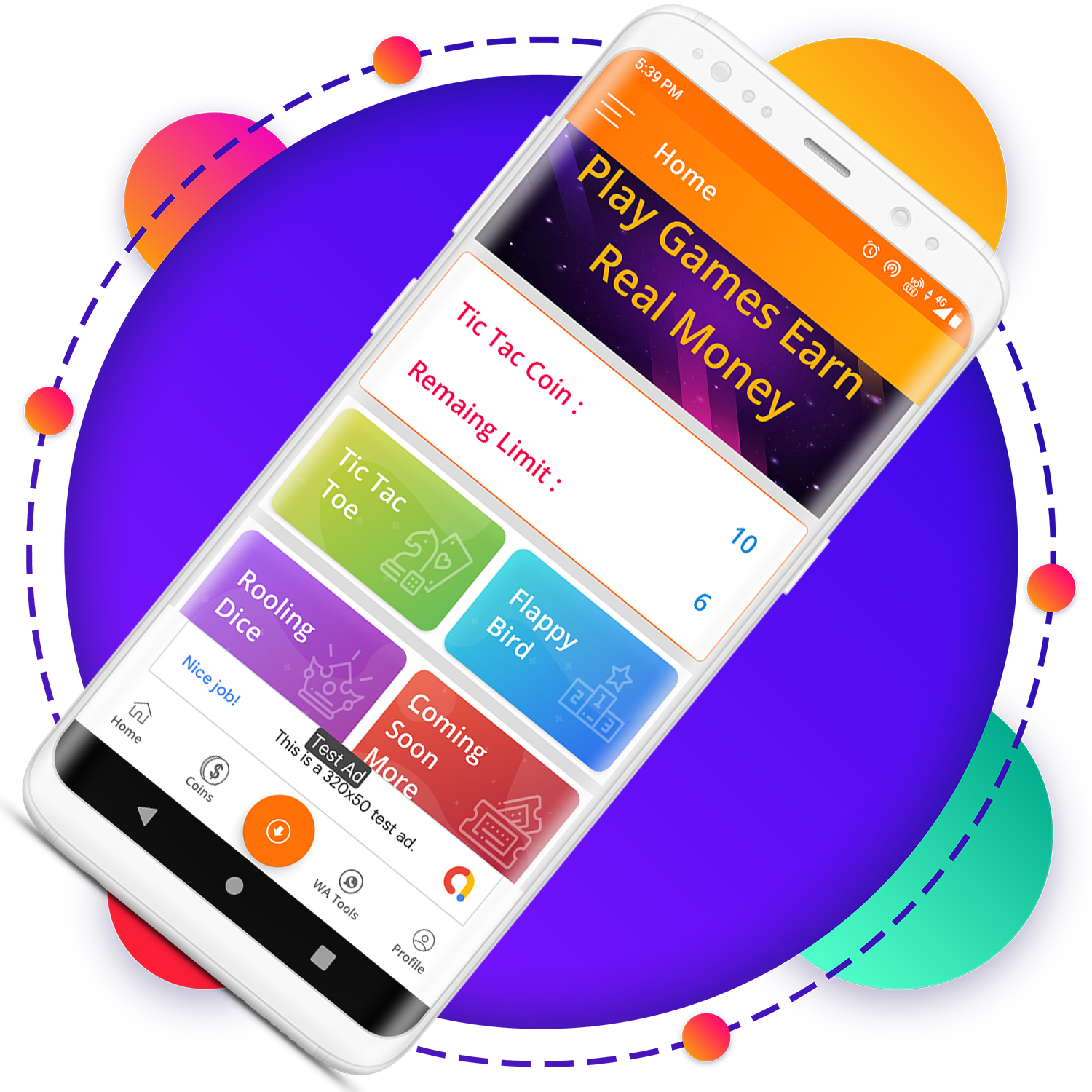 QuickCash All In One Money Earning Android App + Games + WhatsApp Tools + Earning System Admin Panel - 9