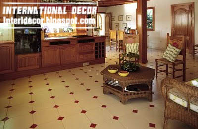 White Kitchen With Patterned Flooring Kitchen Flooring Ideas 10 Of