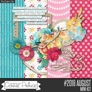 Ginger Scraps #2018 August Challenge  and Freebie Mini Kit