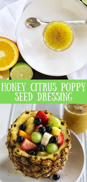 Honey Citrus Poppy Seed Dressing