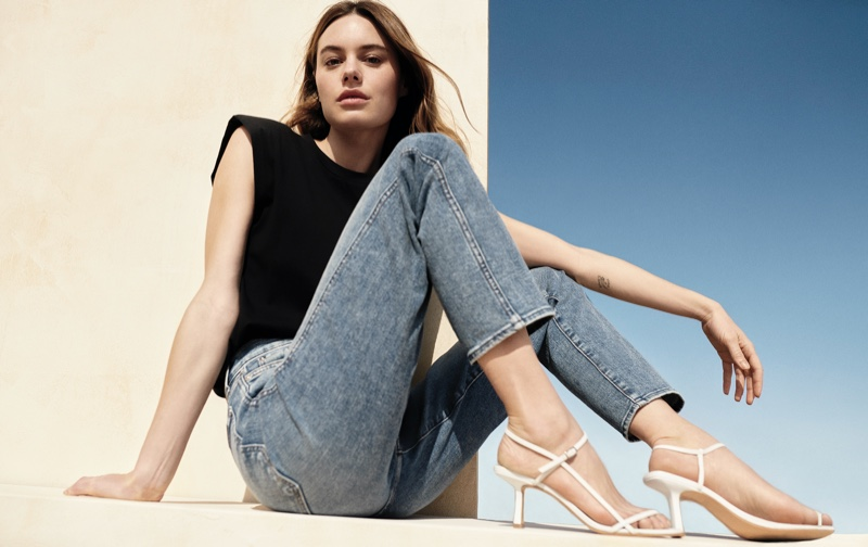 Camille Rowe stars in 7 For All Mankind spring-summer 2021 campaign.