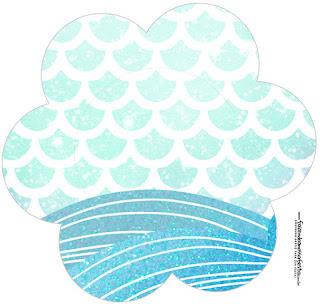Sirena: Toppers o Etiquetas Circulares de Cumpleaños para Descargar Gratis.