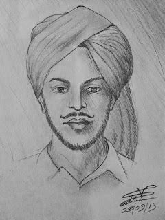 Bhagat Singh Sketch