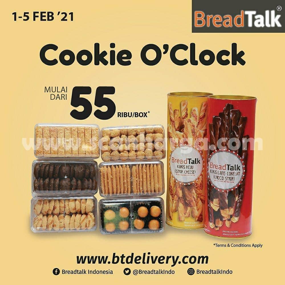 BREADTALK Promo Paket Cookie O'Clock! Harga spesial mulai dari Rp 55Rb box