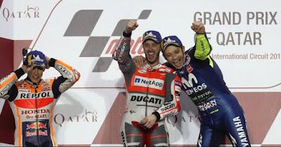 Inilah Rahasia Valentino Rossi Berhasil Naik Podium di MotoGP Qatar