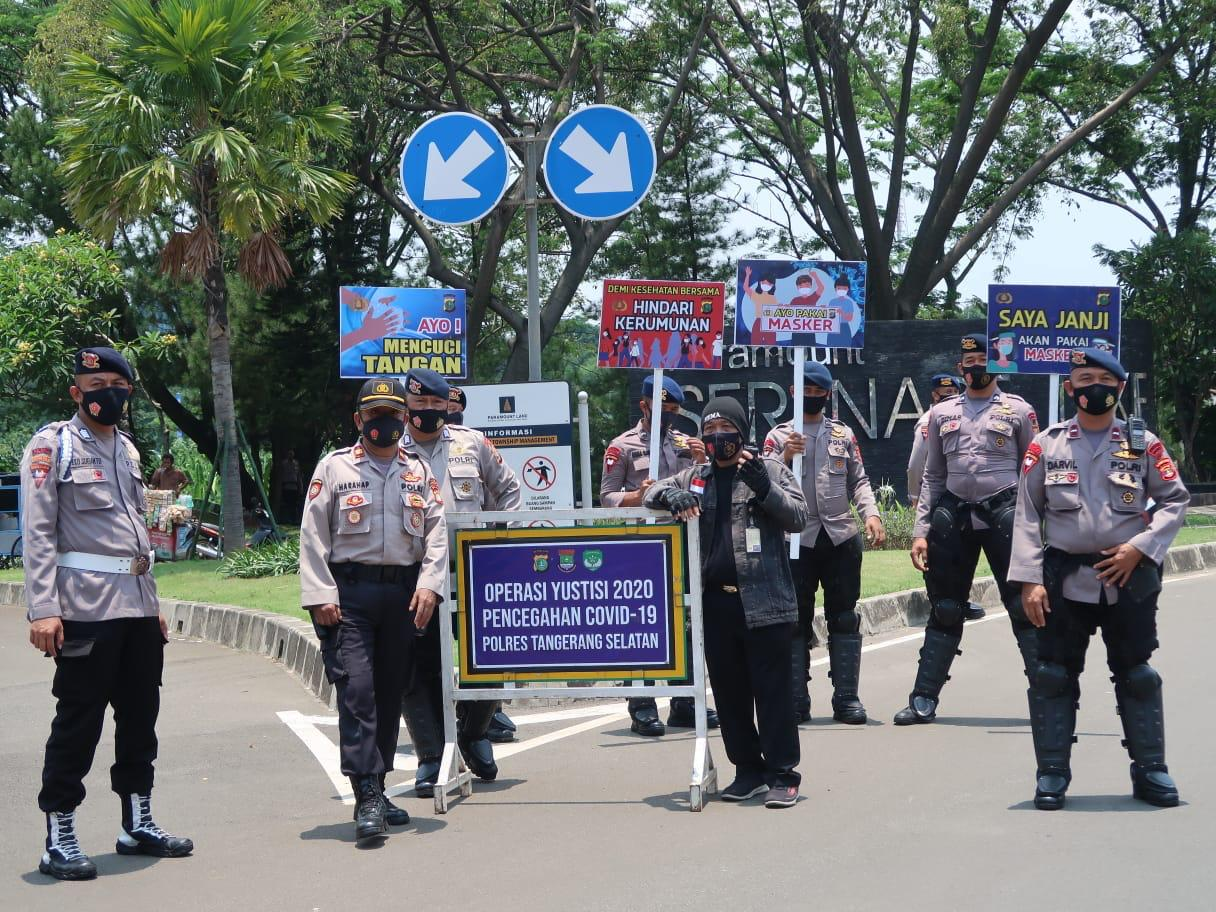 Personil Brimob Lampung BKO Polda Metro Jaya Bantu Laksanaka Operasi Yustisi