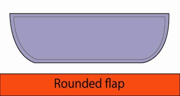 Rounded flap