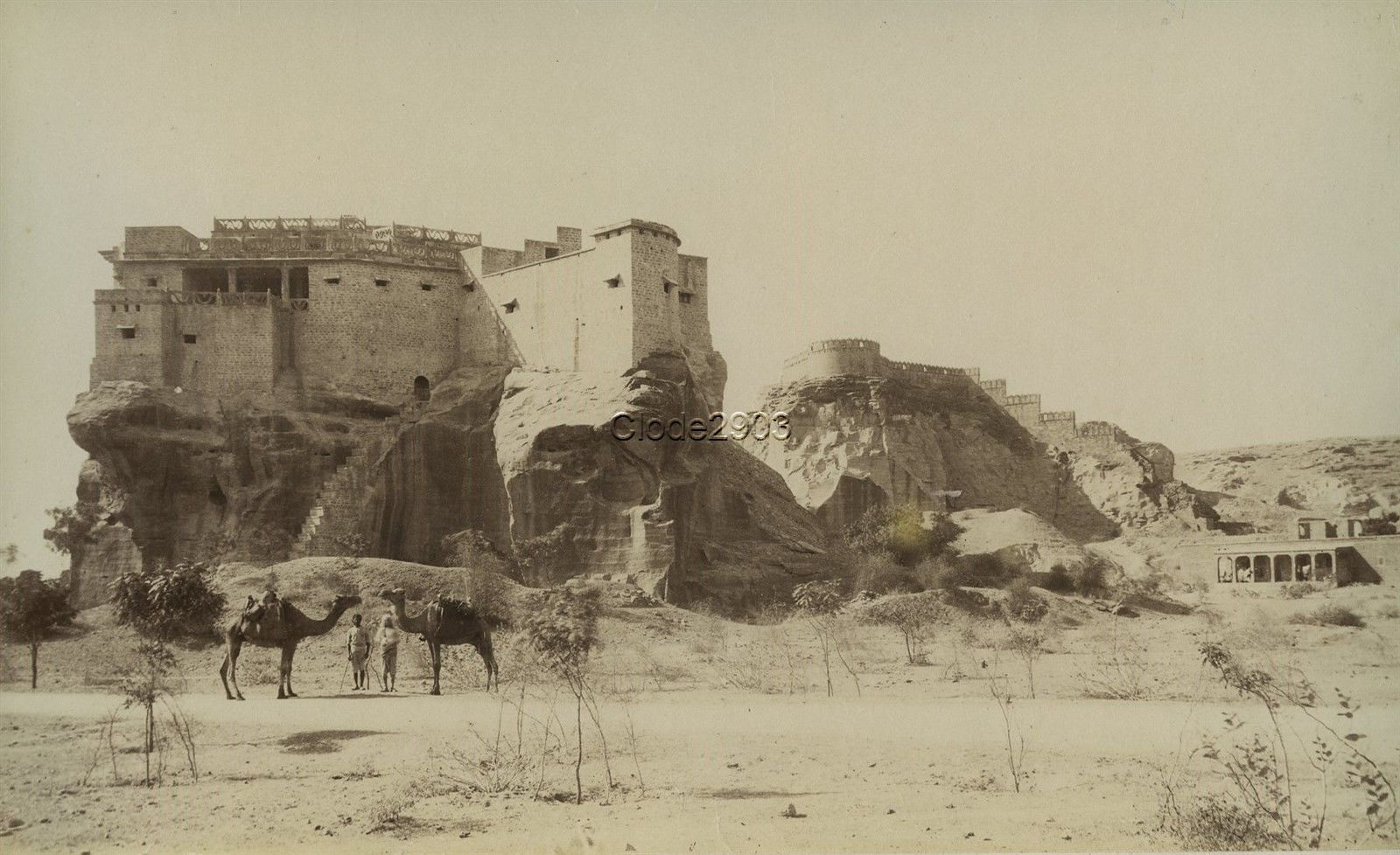 Building on Top of a Large Rock - c1870's