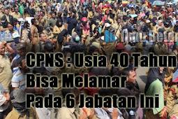 CPNS : Usia 40 Tahun Bisa Melamar Pada 6 Jabatan Ini