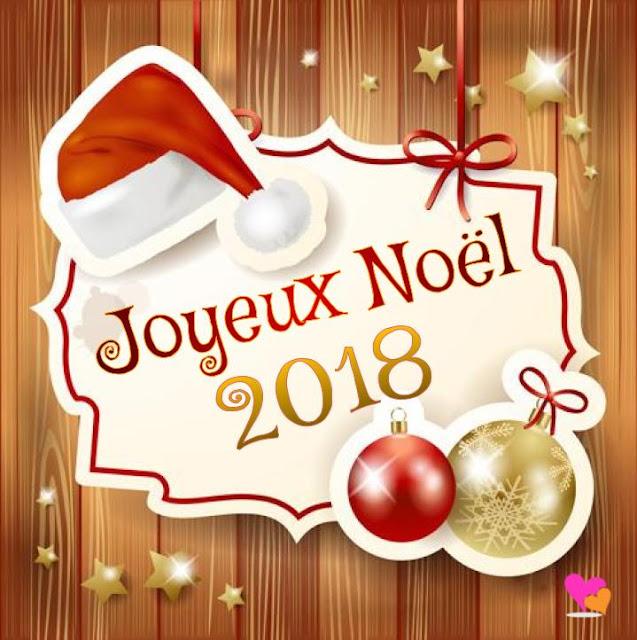 Modèle de carte de vœux Joyeux Noël 2018 - 2019