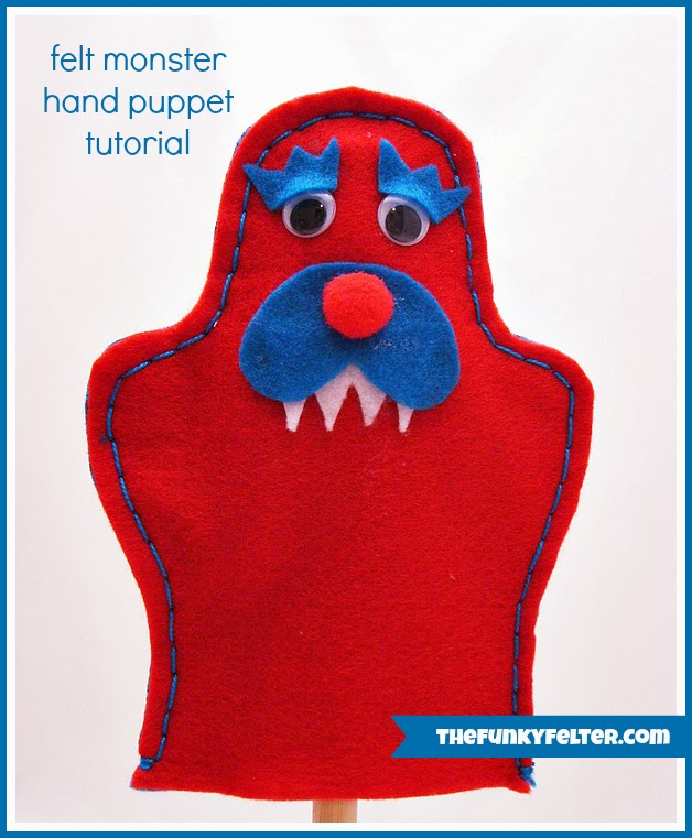 The Funky Felter Craft Felt Monster Puppet Tutorial