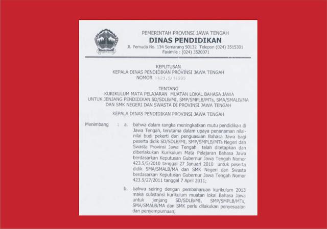 Download Silabus Mulok Sekolah Dasar ( SD )  Jawa Tengah - Bahasa Jawa