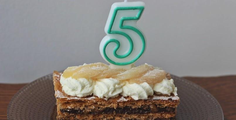 Piąte urodziny bloga / Les cinq ans du blog
