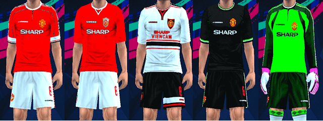 pretty nice d1f66 2c88e Manchester United Classic Kits 1998/99 For PES PSP (PPSSPP)