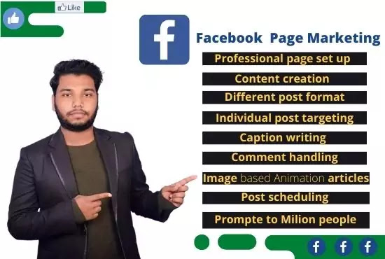 Facebook page manager for marketing