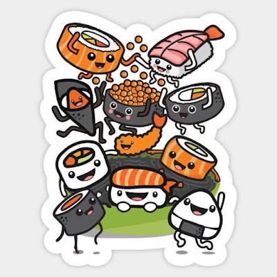 https://www.teepublic.com/sticker/1458786-sushi-party
