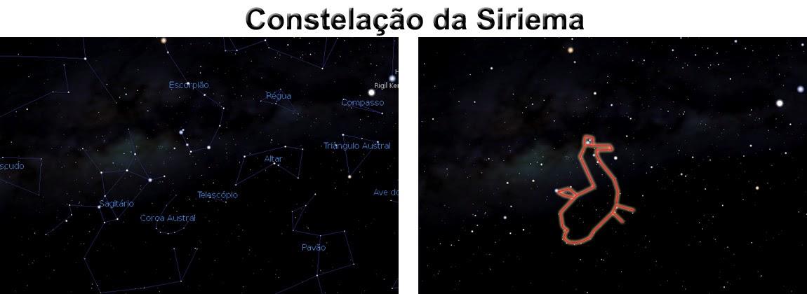 Constelação da Siriema - Azim