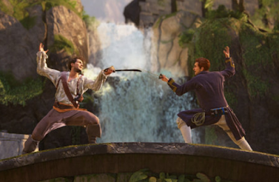 Nath sword fight in Uncharted 4