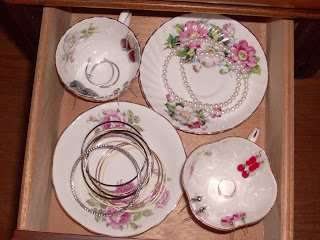 teacup, china, jewelry storage