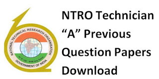 NTRO Technician A Previous Question Papers Download and Syllabus 2019-20
