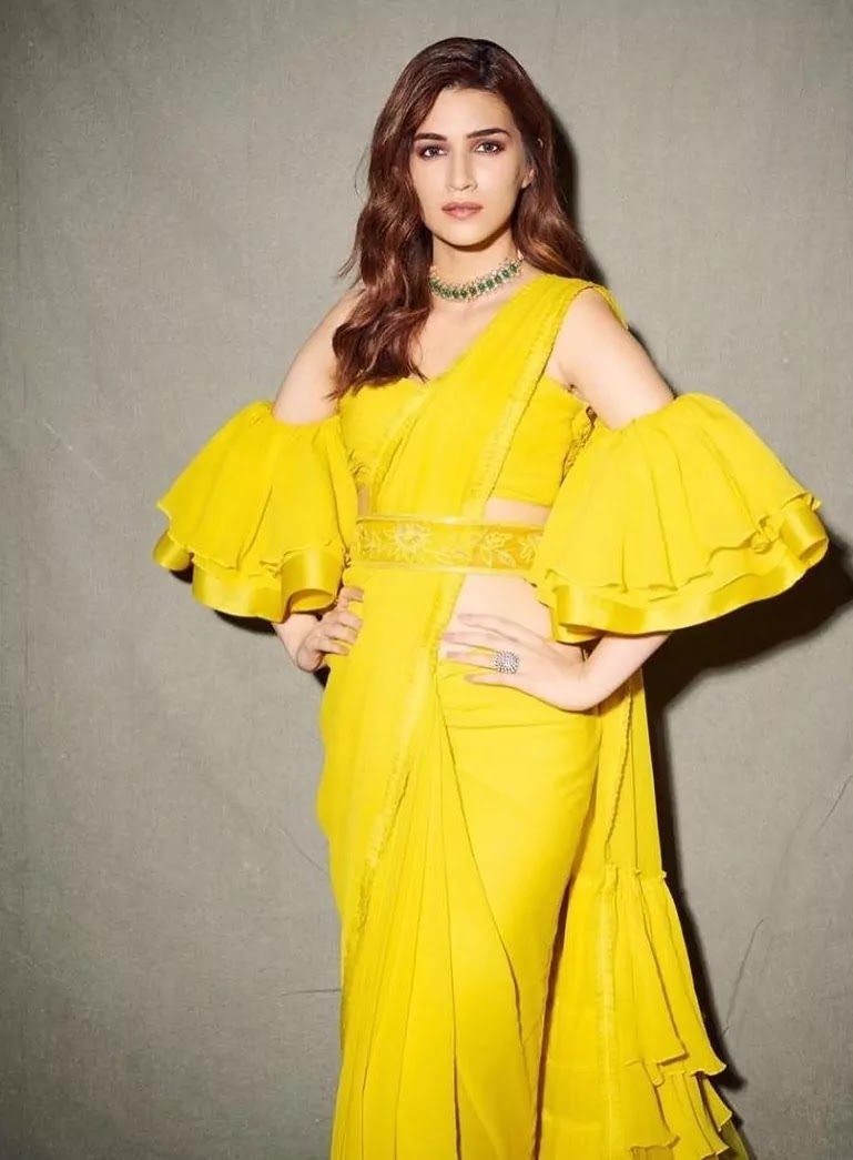 Kriti Sanon in yellow saree