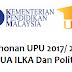 Permohonan UPU Ke UA/IPTA/Politeknik Sesi 2017/2018 Online
