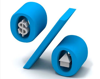 Percent symbol with dollar sign and home.