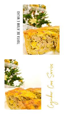 Torta rústica de atum e milho