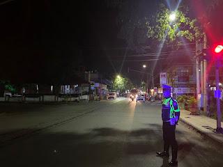 Lakukan Patroli Malam, Personil Satlantas Polres Enrekang Cegah Gangguan Kamseltibcar Lantas