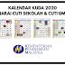 Kalendar 2020: Senarai Cuti Umum & Cuti Sekolah Tahun 2020