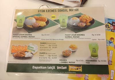 Menu Pilihan MCD Ayam Kremes Sambal Matah
