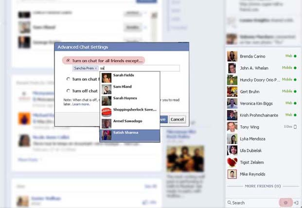Hide your online status on Facbook