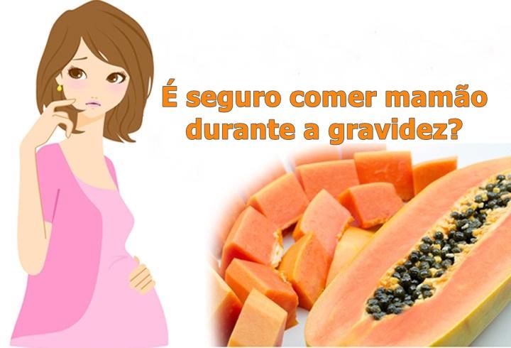É seguro comer mamão durante a gravidez?