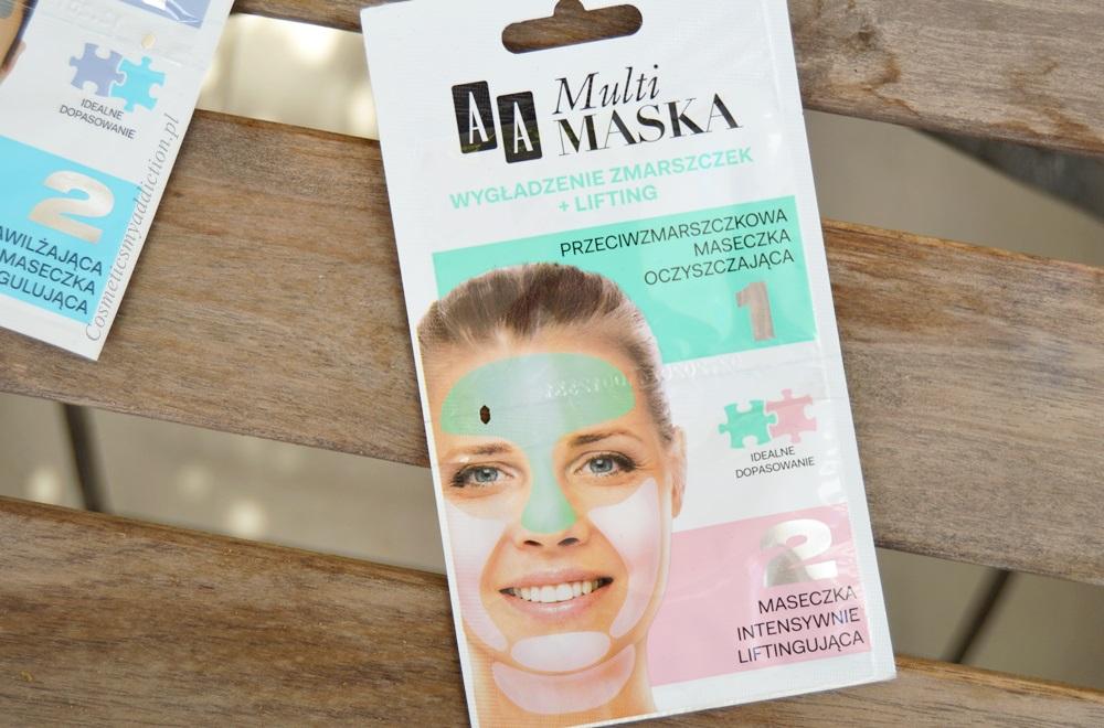 AA Multi Maska - oczyszczanie porów + kontrola sebum oraz wygładzenie zmarszczek + lifting