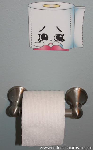 Leagy Toilet Paper Shopkin for easy decor for Shopkins Party